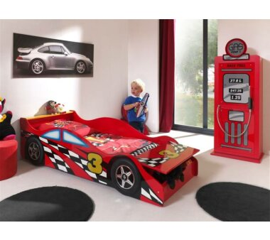 Vipack Autobett Race Car, 70 x 140 cm, rot