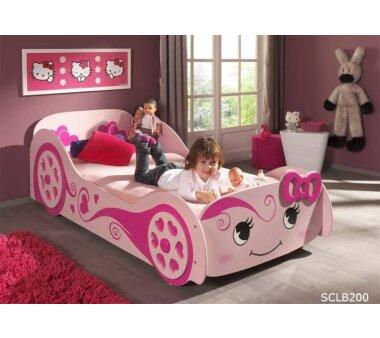 Vipack Autobett Pretty Girl, 90 x 200 cm, rosa
