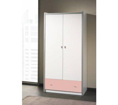 Vipack Kleiderschrank Bonny, 2-türig, weiß-rosa