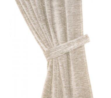 Raffhalter Chenille (1Stck.), Schlauchform mit Ringen, natur