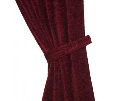 Raffhalter Chenille (1Stck.), Schlauchform mit Ringen, rot