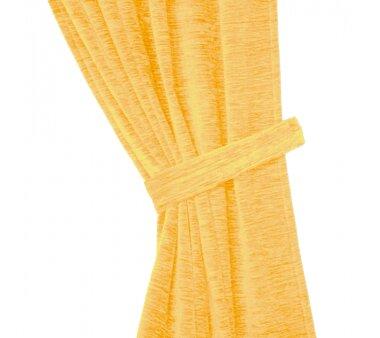Raffhalter Chenille (1Stck.), Schlauchform mit Ringen, gelb
