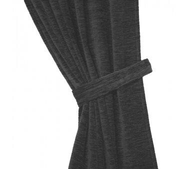 Raffhalter Chenille (1Stck.), Schlauchform mit Ringen, grau