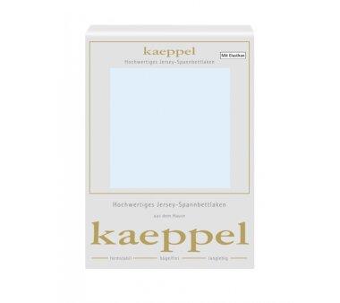 Kaeppel Single Jersey Spannbettlaken mit Elasthan, Fb. ciel