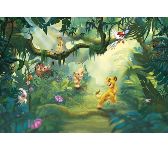Fototapete KOMAR DISNEY, LION KING JUNGLE, 8 Teile, BxH 368 x 254 cm
