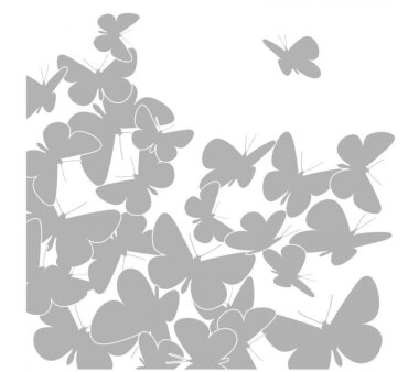 Fenstersticker KOMAR, SCHMETTERLINGE, 21 Teile, BxH 31 x...
