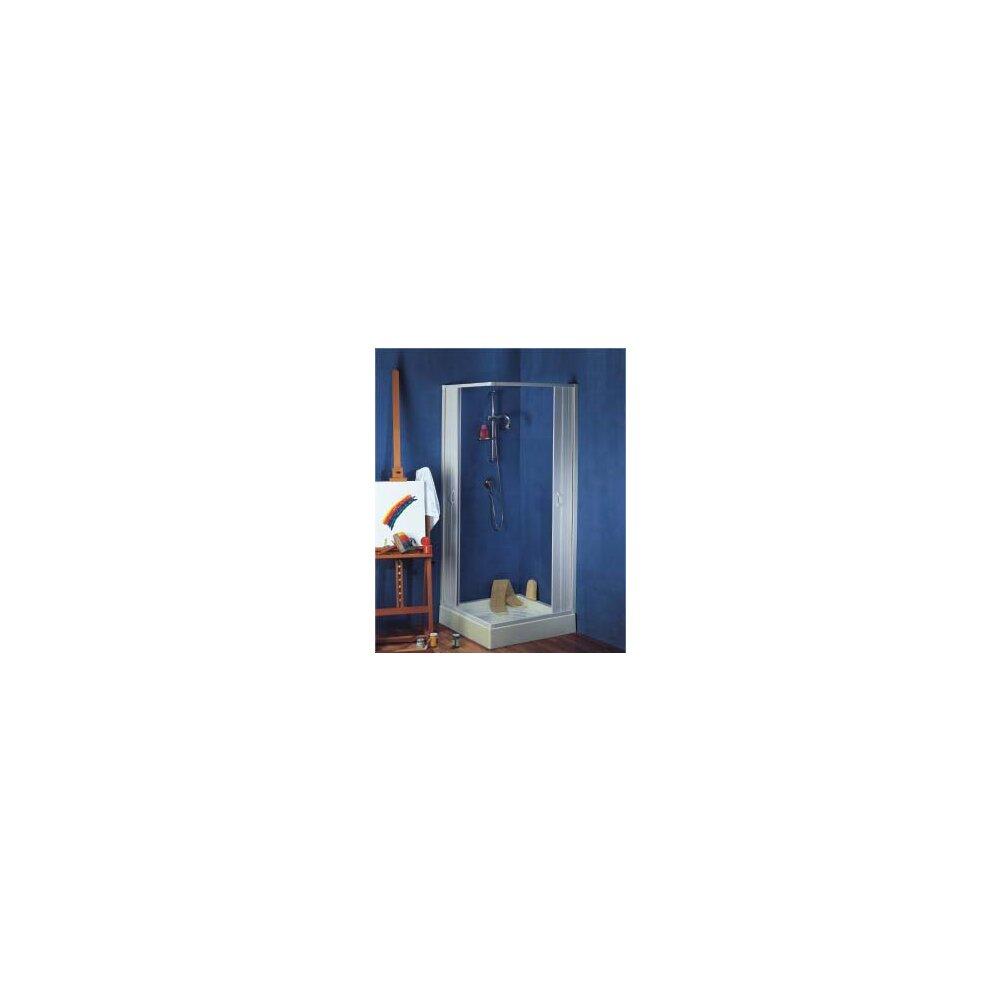 duschkabine eckeinstieg falttrsystem mnchen pvc transparent 80 60x80 60 x 185 cm weiss - Dusche Nischentur 60