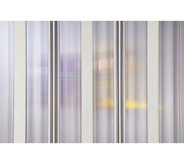 Duschkabine, Eckeinstieg, Falttürsystem, München, PVC transparent, 80-60x80-60 x 185 cm, weiss