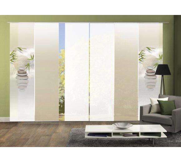 fl chenvorhang set 6 er buda g nstig bei wohnfuehlidee. Black Bedroom Furniture Sets. Home Design Ideas