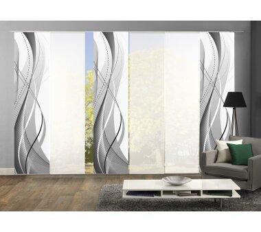 6er-Set Schiebevorhang, Deko blickdicht, WUXI, 96150-703,...