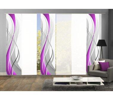 fl chenvorh nge 6er set alberta blickdicht beere. Black Bedroom Furniture Sets. Home Design Ideas