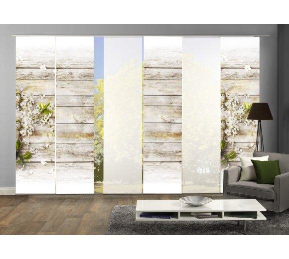 fl chenvorhang set 6 er lucca g nstig bei wohnfuehlidee. Black Bedroom Furniture Sets. Home Design Ideas