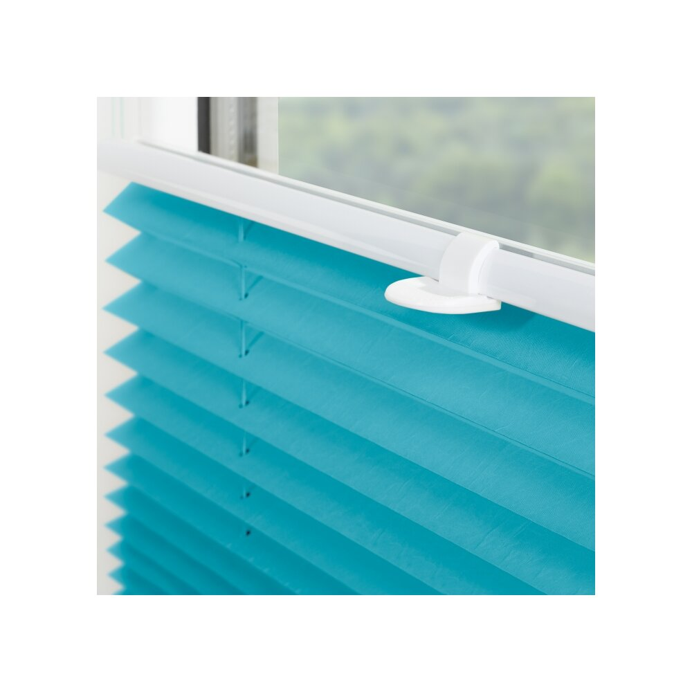 plissee faltstore blau 70x210 cm verspannt. Black Bedroom Furniture Sets. Home Design Ideas
