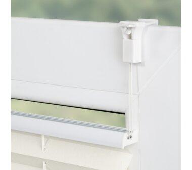 Lichtblick Plissee Klemmfix, ohne Bohren, verspannt - weiß 75 cm x 130 cm (B x L)