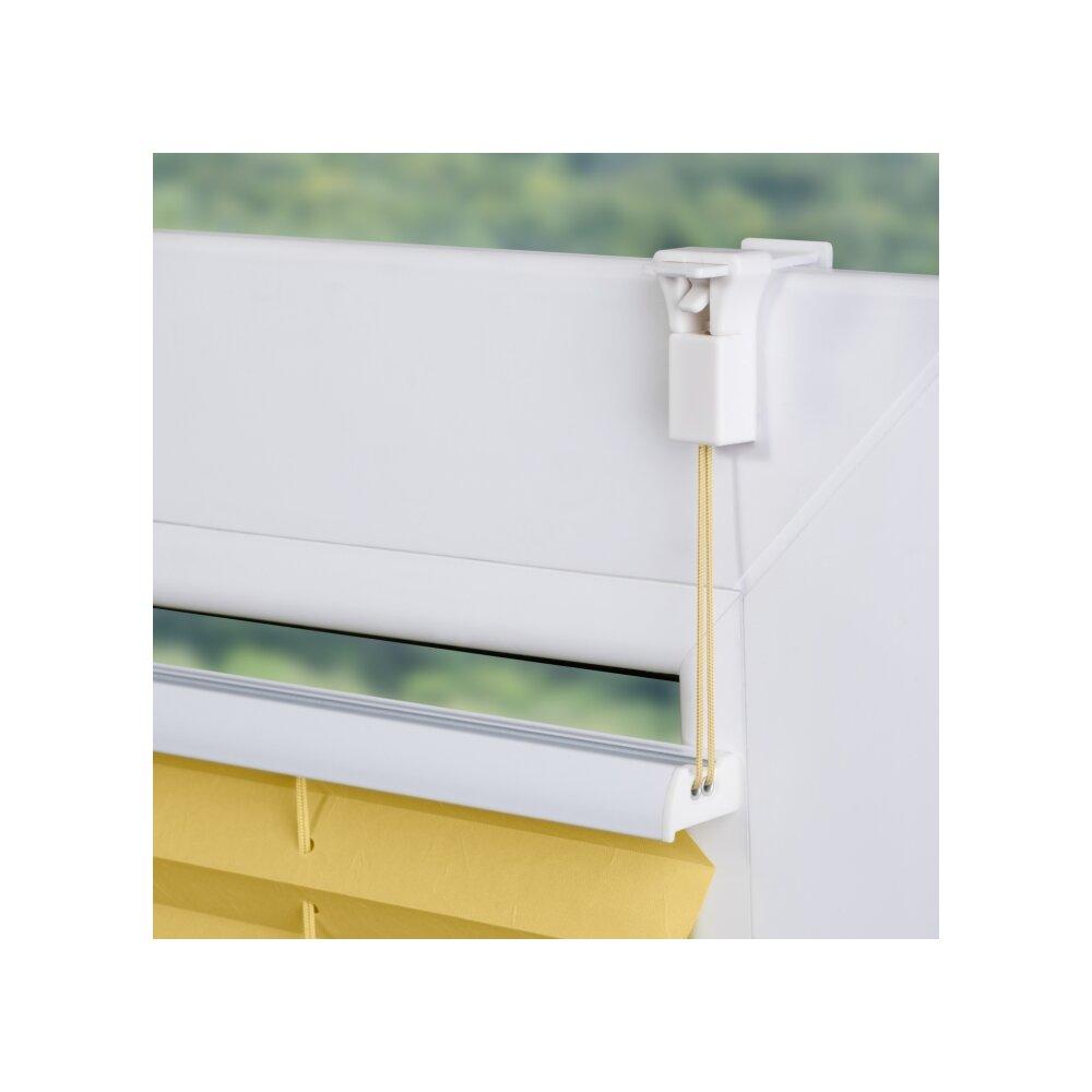 klemmfix plissee gelb 75x130 cm montage ohne bohren. Black Bedroom Furniture Sets. Home Design Ideas
