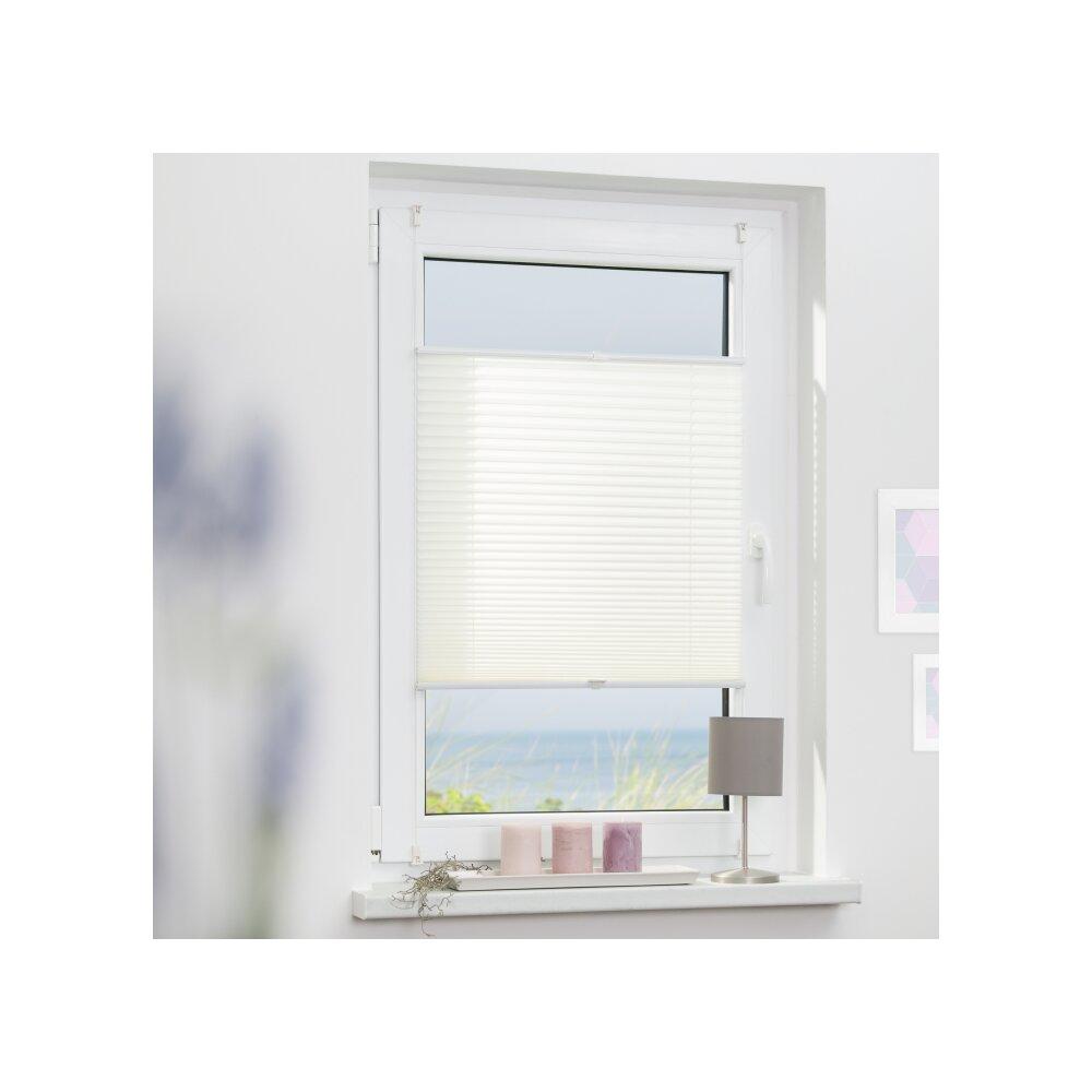 plissee faltstore wei 85x130 cm verspannt. Black Bedroom Furniture Sets. Home Design Ideas