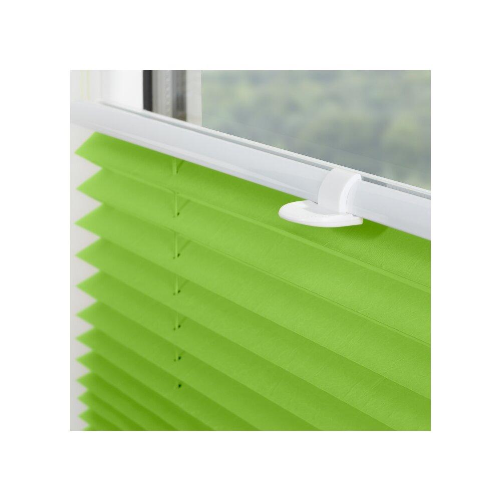 klemmfix plissee gr n 85x130 cm montage ohne bohren. Black Bedroom Furniture Sets. Home Design Ideas