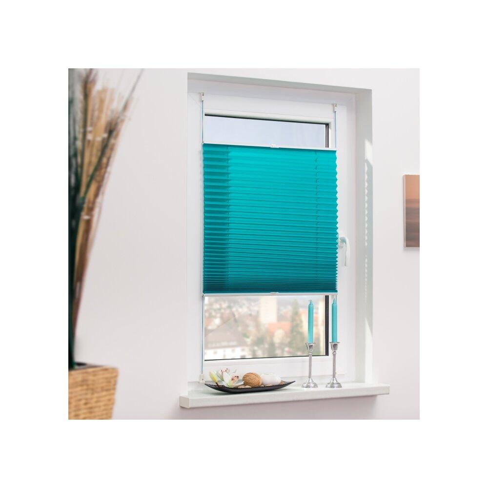 plissee faltstore blau 85x130 cm verspannt. Black Bedroom Furniture Sets. Home Design Ideas