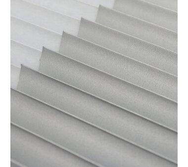 LIEDECO Klemmfix-Thermo-Plissee verspannt VD  - Farbe weiß
