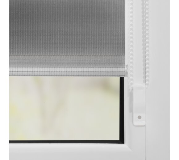 duo rollo grau 90x220 cm klemmfix ohne bohren kaufen. Black Bedroom Furniture Sets. Home Design Ideas