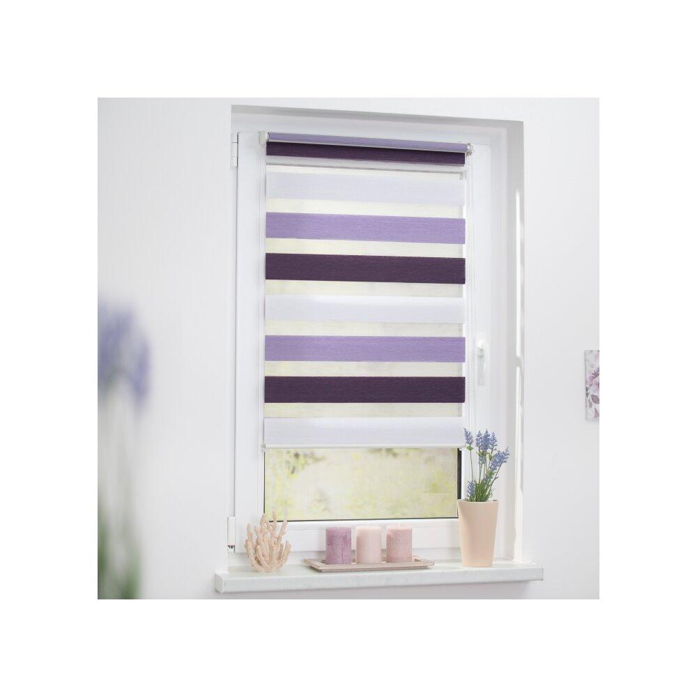 duo rollo doppel rollo violett lila 45x150 cm. Black Bedroom Furniture Sets. Home Design Ideas