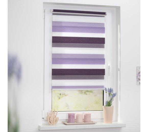 duo rollo doppel rollo violett lila 90x150 cm. Black Bedroom Furniture Sets. Home Design Ideas
