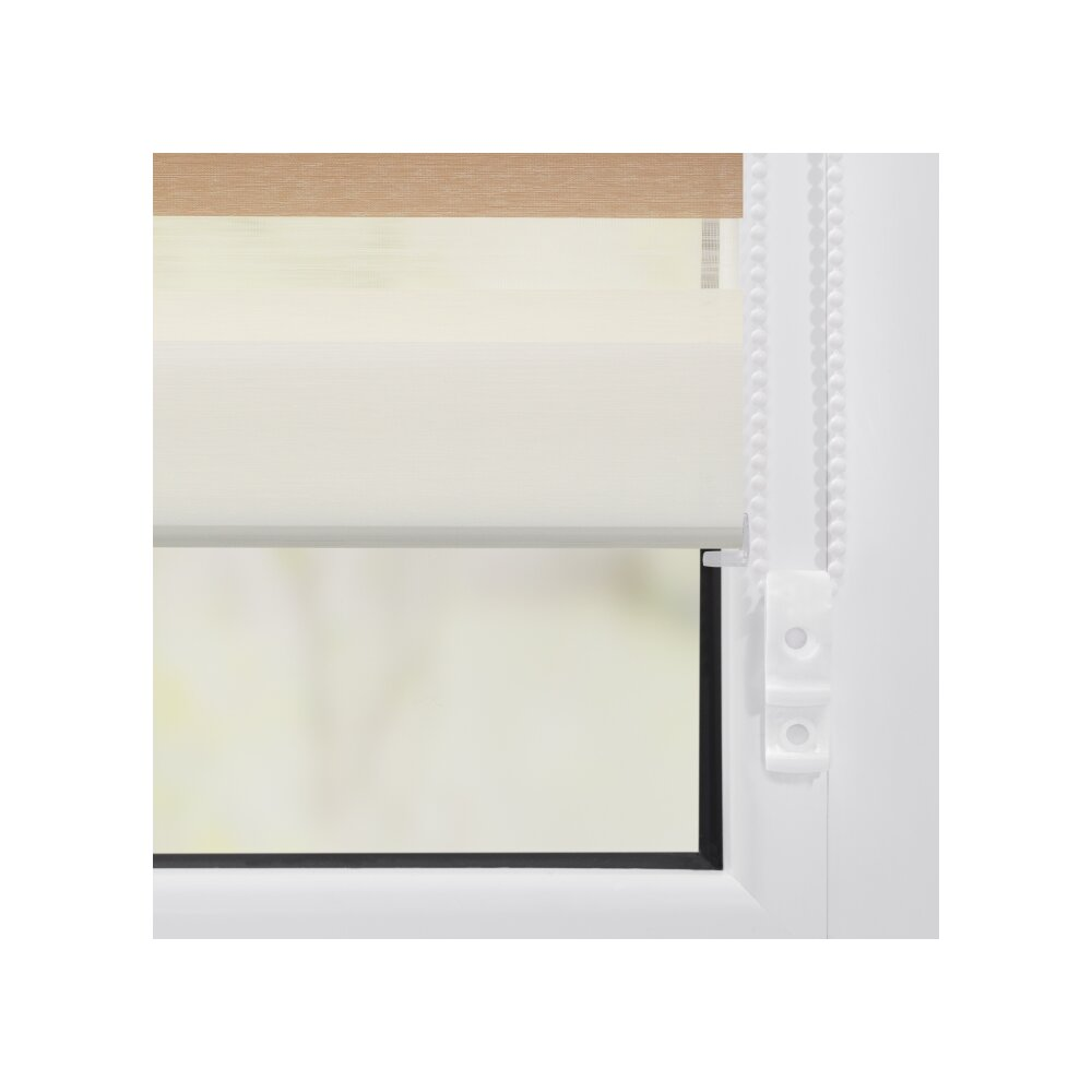 duo rollo doppel rollo creme braun 60x150 cm. Black Bedroom Furniture Sets. Home Design Ideas